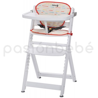Seggiolone Pappa Evolutivo Safety 1st Timba Red Lines/White Wood