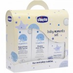 Baby Moments Set Trial Cambio Bagno Chicco (bagnoschiuma 200 ml, shampoo 200 ml, acqua di colonia 100 ml)